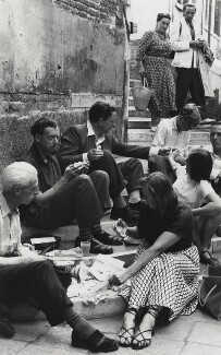 Benjamin Britten, Peter Pears, John Piper and others in Venice, by Erich Auerbach - NPG x15232