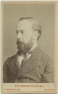 Sir Charles Wentworth Dilke, 2nd Bt, by London Stereoscopic & Photographic Company - NPG x13462