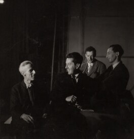 John Piper; Sir Frederick Ashton; Benjamin Britten and Eric John Crozier, by Edward Mandinian - NPG x15211