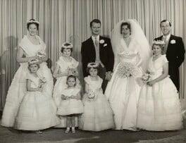 The wedding of David Hicks and Lady Pamela Mountbatten, by Madame Yevonde, 13 January 1960 - NPG x34116 - © Yevonde Portrait Archive