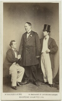 John Lawrence Toole; Paul John Bedford; John Lawrence Toole, by William Walker & Sons - NPG x26922