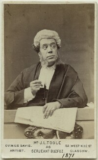 John Lawrence Toole as Serjeant Buzfuz in 'Bardell v. Pickwick', by Ovinius Davis - NPG Ax18165