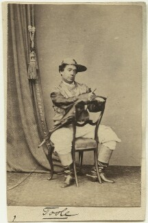 John Lawrence Toole as Mr Tittums in 'The Steeple Chase; or, In the Pigskin', by Unknown photographer - NPG x26920
