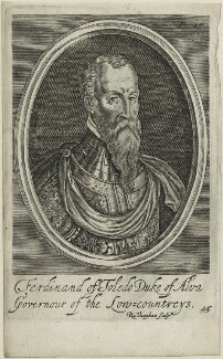 Fernando Alvarez de Toledo, 3rd Duke of Alba, by Robert Vaughan - NPG D25002