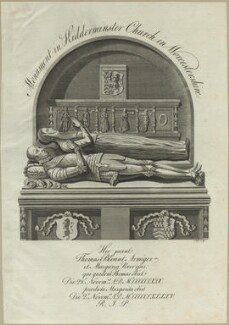 Monument to Thomas Blount and his wife Margaret at Kidderminster Church, by James Ross - NPG D25012