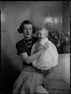 Lady Elizabeth Grenfell with her son, by Bassano Ltd - NPG x151851