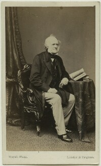 Sir Charles Lyell, 1st Bt, by Mayall - NPG Ax7525