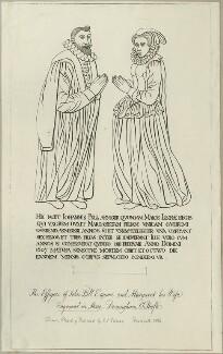 'The Effigies of John Pell Esquire and Margaret his Wife.' (John Pell; Margaret Pell), by John Sell Cotman - NPG D25014