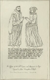 The Effigies of John Pell Esquire and Margaret his Wife., by John Sell Cotman - NPG D25014