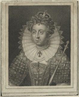 Queen Elizabeth I, by James Hopwood Sr, after  Edward Lutterell (Luttrell) - NPG D25017