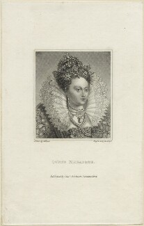 Queen Elizabeth I, by R. Cooper, after  Isaac Oliver - NPG D25023