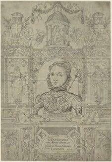 Queen Elizabeth I (Frontispage to Compendiosa totius anatomie delineatio, ære exarata / per Thomam Geminum), by Thomas Gemini, mid 16th century - NPG D25026 - © National Portrait Gallery, London