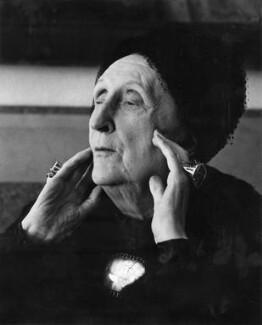 Edith Sitwell, by Mark Gerson - NPG x88228