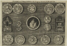 The Gold and Silver Coins in the Reign of Queen Elizabeth, after Unknown artist - NPG D25043