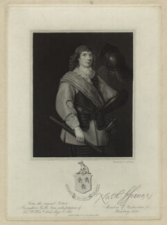 Nathaniel Fiennes, probably by Thomas Anthony Dean, published by  John Samuel Murray, after  Michiel Jansz. van Miereveldt - NPG D31832