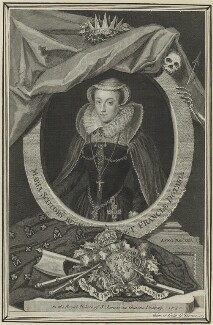 Mary, Queen of Scots, by George Vertue - NPG D25047