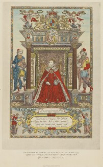 Queen Elizabeth I as patroness of Geography and Astronomy, by Emery Walker Ltd, after  Remigius Hogenberg - NPG D31837