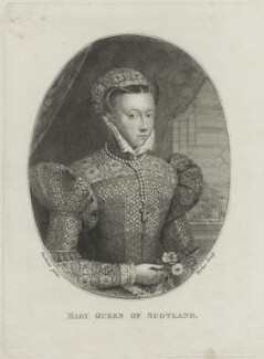 Unknown sitter, formerly known as Mary, Queen of Scots, by George Vertue, after  Unknown artist - NPG D25055