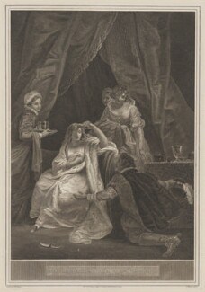 Interview between Queen Elizabeth & the Earl of Essex, by Thomas Milton, published by  Robert Bowyer, after  Robert Smirke - NPG D31838