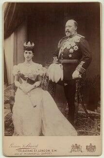 Queen Alexandra; King Edward VII, by Peter Cooke, for  Gunn & Stuart - NPG x3801