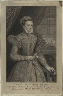 Unknown sitter, formerly known as Mary, Queen of Scots, by George Vertue - NPG D25085