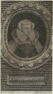 Mary, Queen of Scots, by George Vertue - NPG D25087