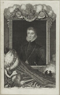 Henry Stuart, Lord Darnley, by George Vertue, after  Hans Eworth - NPG D25091