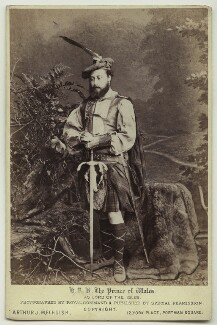 King Edward VII when Prince of Wales as Lord of the Isles, by A.J. (Arthur James) Melhuish - NPG x6858