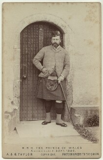 King Edward VII when Prince of Wales, by Andrew & George Taylor - NPG x76588