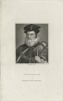 William Cecil, 1st Baron Burghley, by R. Cooper - NPG D25108