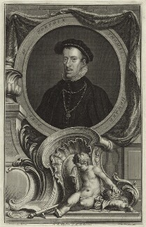 Thomas Howard, 4th Duke of Norfolk, by Jacobus Houbraken, after  Hans Eworth - NPG D25123