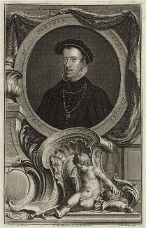 Thomas Howard, 4th Duke of Norfolk, by Jacobus Houbraken, after  Hans Eworth, 1735 - NPG D25123 - © National Portrait Gallery, London