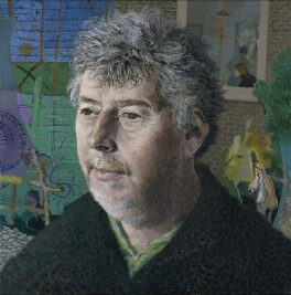 Sir Harrison Birtwistle, by Tom Phillips - NPG 6822