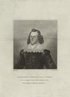 Ferdinando Stanley, 5th Earl of Derby, by James Stow, after  Silvester (Sylvester) Harding - NPG D25130