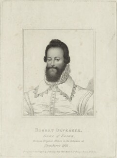 Robert Devereux, 2nd Earl of Essex, published by Silvester (Sylvester) Harding, and published by  Peter Brown - NPG D25139