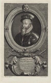 Robert Dudley, 1st Earl of Leicester, by Cornelis Martinus Vermeulen, after  Adriaen van der Werff - NPG D25147