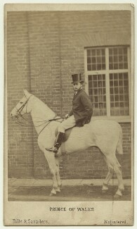King Edward VII when Prince of Wales, by Hills & Saunders - NPG x46998