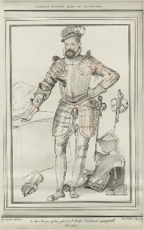 Robert Dudley, 1st Earl of Leicester, by Simon Watts, after  Federico Zuccaro - NPG D25151