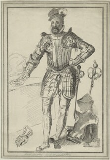 Robert Dudley, 1st Earl of Leicester, by Simon Watts, after  Federico Zuccaro - NPG D25152
