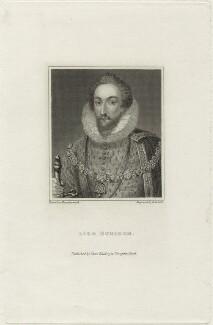 Henry Carey, 1st Baron Hunsdon, by R. Cooper - NPG D25154