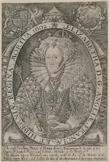 Queen Elizabeth I, by Renold or Reginold Elstrack (Elstracke) - NPG D31852