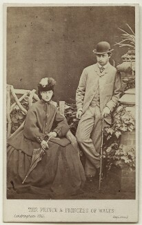 Queen Alexandra; King Edward VII, by London Stereoscopic & Photographic Company - NPG Ax38287