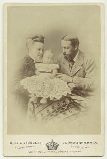 Marie Alexandrovna, Duchess of Edinburgh; Marie, Queen of Romania; Prince Alfred, Duke of Edinburgh and Saxe-Coburg and Gotha, by Hills & Saunders - NPG x33254