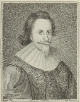 Ambrose Dudley, 3rd Earl of Warwick, by Edward Harding, published by  Isaac Herbert, probably after  George Jamesone - NPG D25174