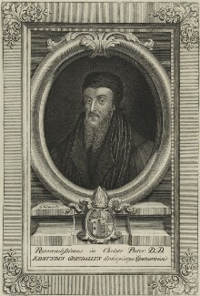 Edmund Grindal, by George Vertue - NPG D25194