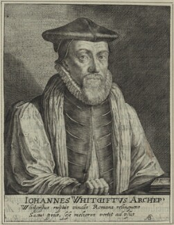 John Whitgift, by Magdalena de Passe, and by  Willem de Passe - NPG D25200