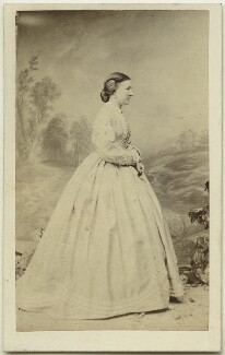 Hon. Margaret Frances Agnes Eyre (née Preston), by Ferdinand Jean de la Ferté Joubert, 1863 - NPG Ax46857 - © National Portrait Gallery, London