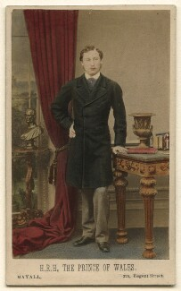 King Edward VII when Prince of Wales, by John Jabez Edwin Mayall - NPG Ax46749