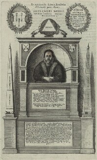 Monument to Alexander Nowell at St. Paul's Cathedral, by Wenceslaus Hollar - NPG D25223