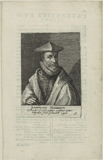 Laurence Humphrey, possibly by Magdalena de Passe, possibly by  Willem de Passe - NPG D25226